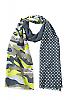 Šála Camouflage - Black-melange/light-grey